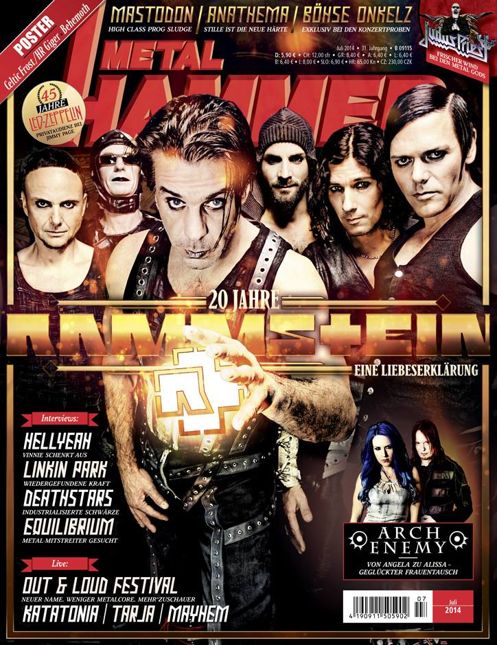 Metal Hammer July 2014 cover